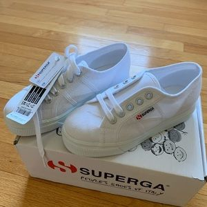 Kids Platform Superga's-will fit Women's Size -5